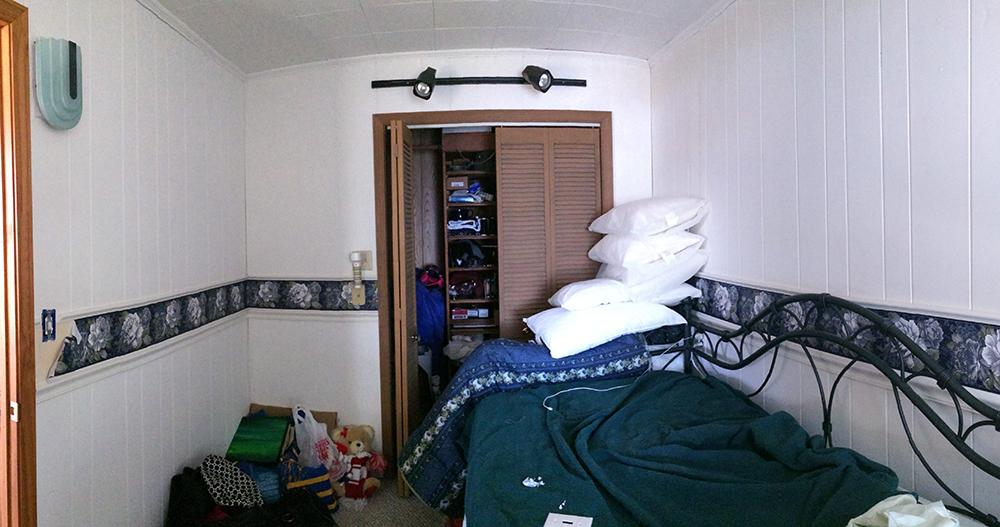 bedroom before closet